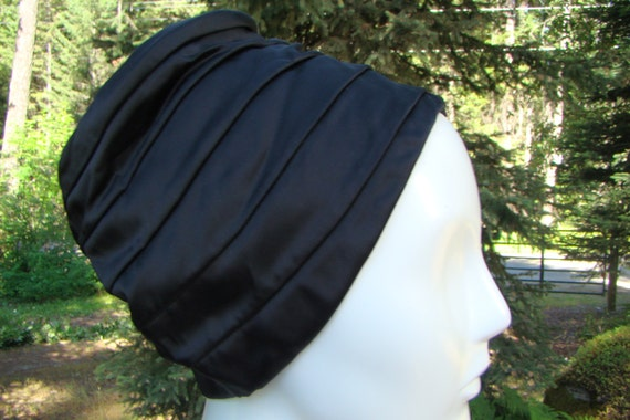 1950s Couture Satin Bucket Hat