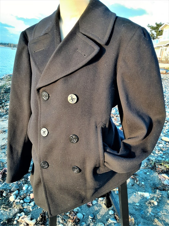 Vintage Authentic US Navy Heavy Wool Double Breast