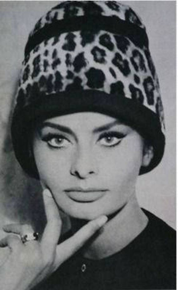 1950s Speckled Feathered Turban - image 5