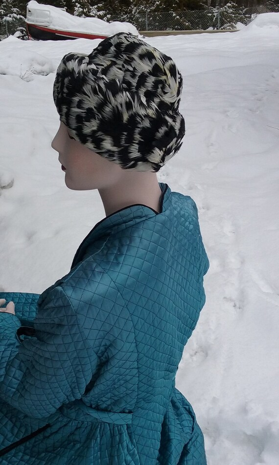 1950s Speckled Feathered Turban - image 2