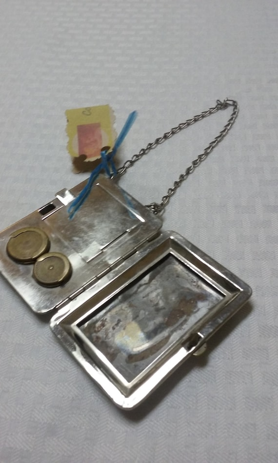 Depression Era Metal Coin Wallet and Card Carrier