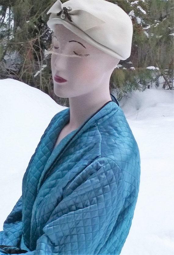 1960s Oversized Wool Beret - image 3