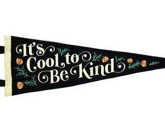 It's Cool To Be Kind Pennant • Everyday Hooray x Oxford Pennant Original