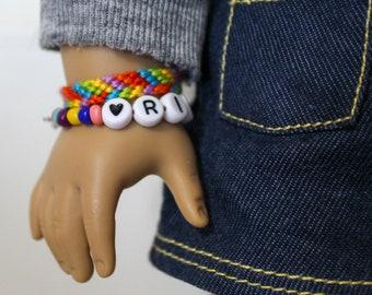 Custom American Girl Doll Beaded Bracelets - VSCO Bracelets for 18 Inch Dolls
