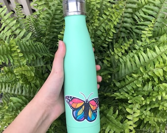 LGBTQ+ Pride Rainbow Butterfly Vinyl Sticker for Water Bottles, Laptops, Notebooks, and More!