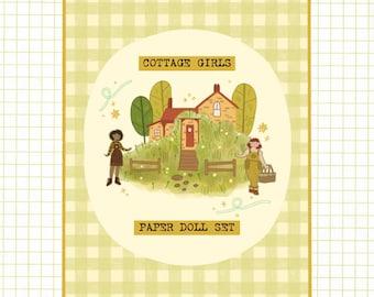 Cottage Girls Paper Doll Set - Cottagecore Paper Doll Book