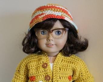 "Autumn Bucket Hat for 18"" Dolls"