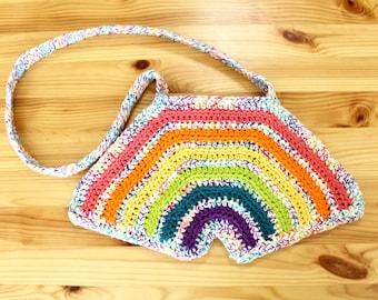 Handmade Rainbow Shaped Colorful Crochet Bag
