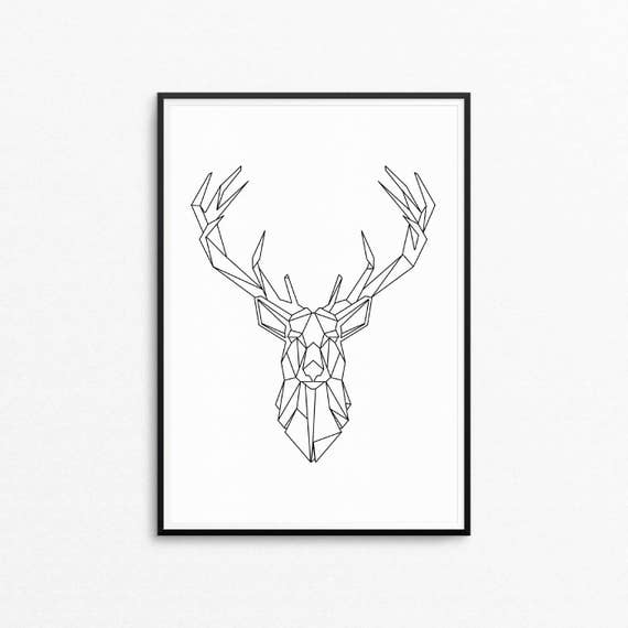 picture about Deer Printable titled Geometric Deer brain print, Deer Andlers Printable, Scandinavian Printable wall artwork, Deer Mind Printable Wall Artwork, Nordic, Instantaneous Obtain