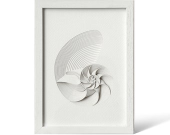Nautilus, Paper Art  IDEAL GIFTS A5 Frame
