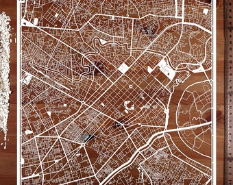 Ho Chi Minh City (Saigon) , 12×12 In. Paper Art  IDEAL GIFTS