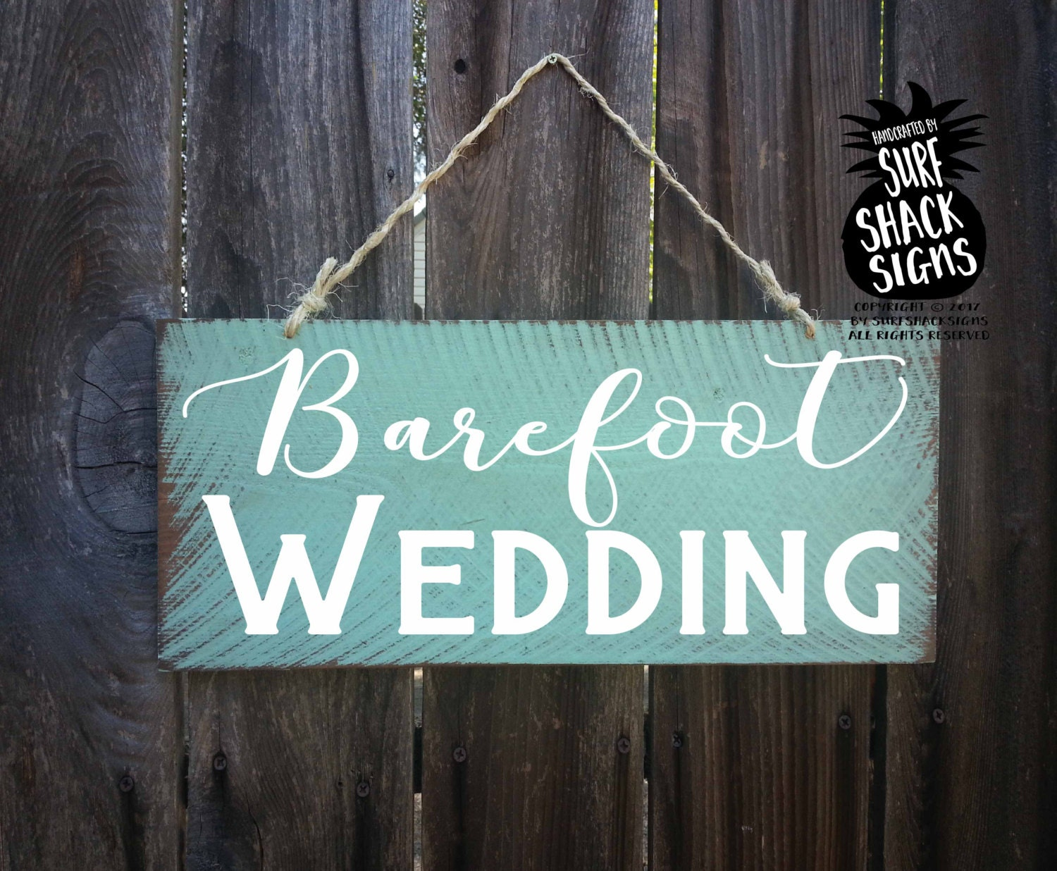 Beach Wedding Beach Wedding Decor Beach Wedding Signs Barefoot