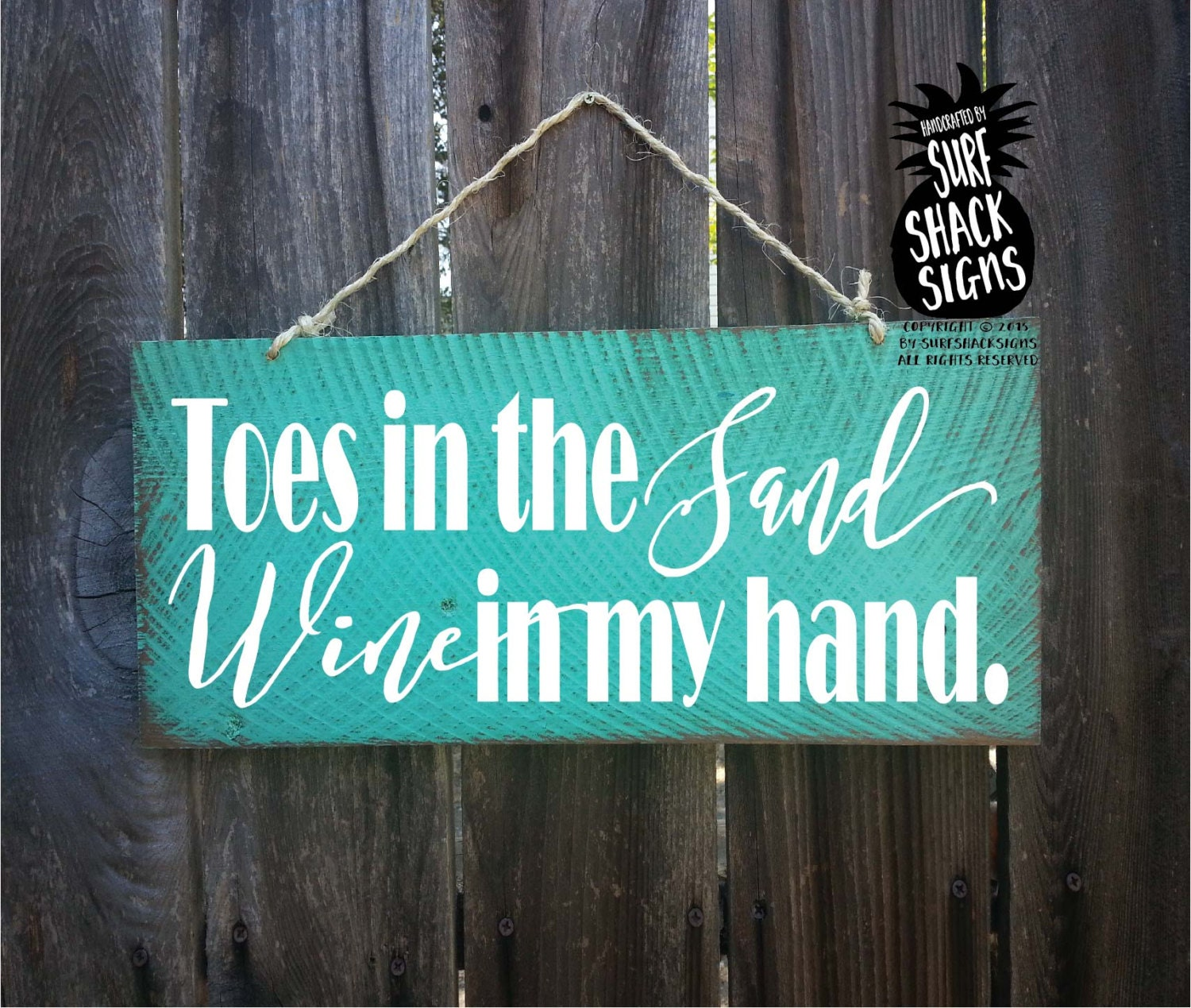 Toes in the sand wine in my hand beach decor beach sign etsy for The sign