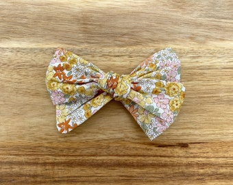 Summer Yellow Hand-Tied Bow, Sevenberry, Headband, Bow, Toddler, Baby, Newborn, Photo Prop, Accessory, Alligator Clip, Hairbow, Capsule