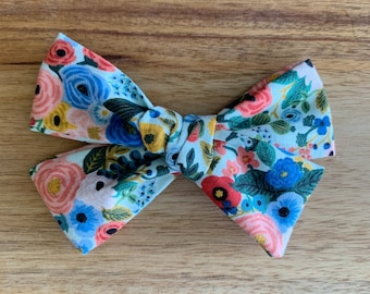 Wildwood Garden Party Hand-Tied Bow, Headband, Bow, Toddler, Baby, Newborn, Photo Prop, Accessory, Alligator Clip, Hairbow, Capsule
