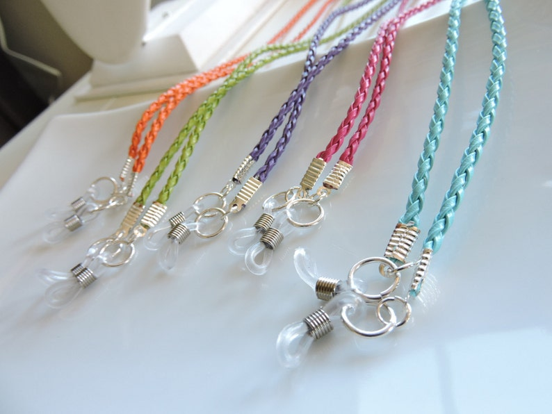 Braided Leather Eyeglass Chain  Chain Reading Glassess image 0