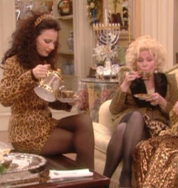 What The Nanny Wore, faux leopard fur, luncheon sk