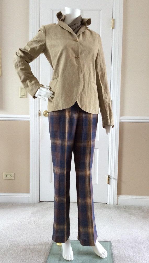 Romeo Gigli vintage 1993 Size Italian 44 burgundy off-shoulder lace USA 8 short sleeve T-Shirt