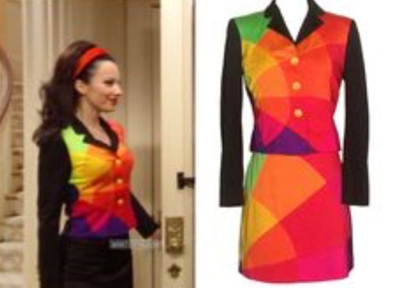 Moschino vintage skirt suit like the one Nanny Fin