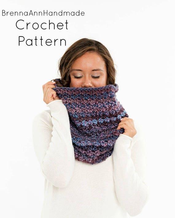 Crochet Pattern Chunky Crochet Infinity Scarf Cowl Hood Etsy