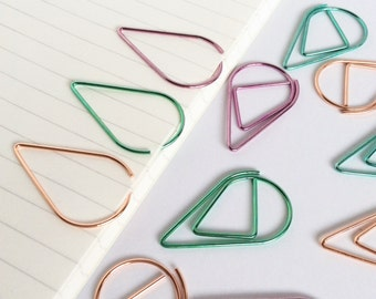 Planner Clips Teardrop Paper Clip Planner Accessories Page Marker