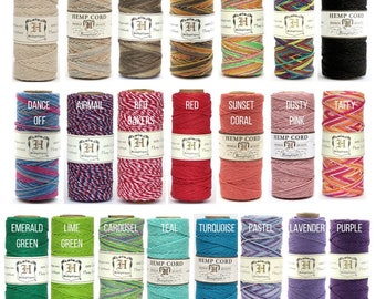3c43af11611 Hemptique Hemp Macrame Cord 62.5m Eco Friendly Twine 32 Colours