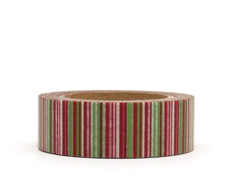 Washi Tape Red Green Stripes Christmas Lines