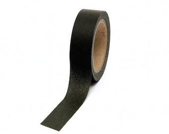 Black Washi Tape Solid Colour