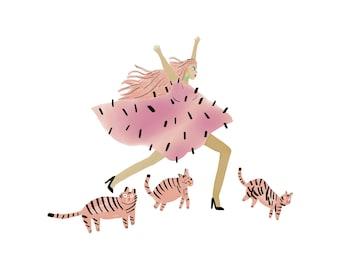 Pink Madness - glicée print