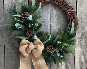 Winter Wreaths Etsy