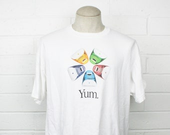 Vintage 90s Apple Computers Shirt XL White iMac G3 Colored Monitors Think Different Steve Jobs Mac Logo Tee