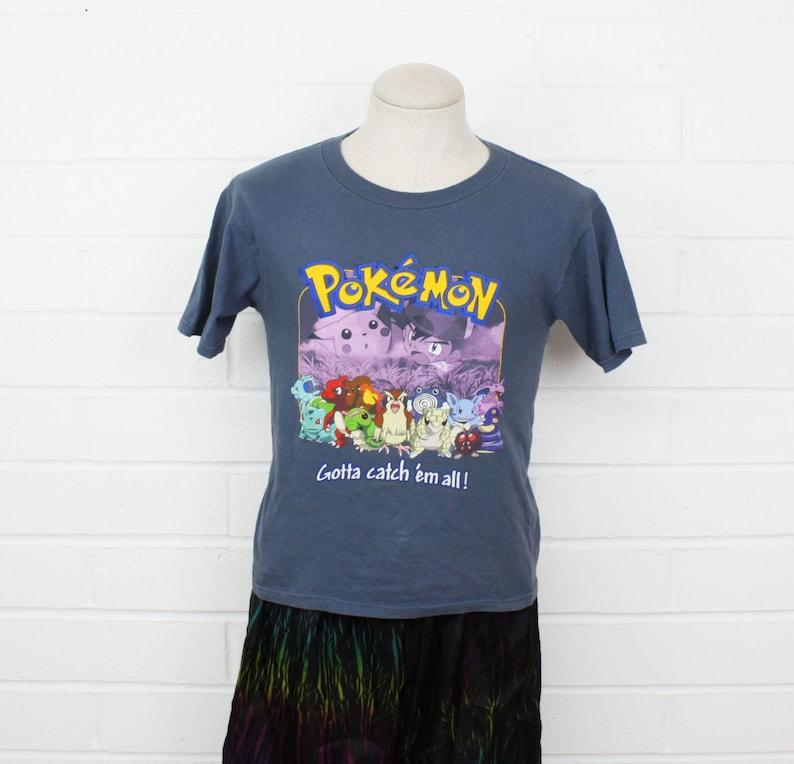 fc341a36 Vintage 90s Pokemon Shirt Gotta Catch em All Ash and Pikachu | Etsy