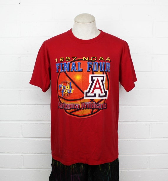 online store 24413 cb664 Vintage 90s University of Arizona Wildcats Basketball Shirt Large U of A  Bear Down Red 1997 Final Four College Tee T-Shirt