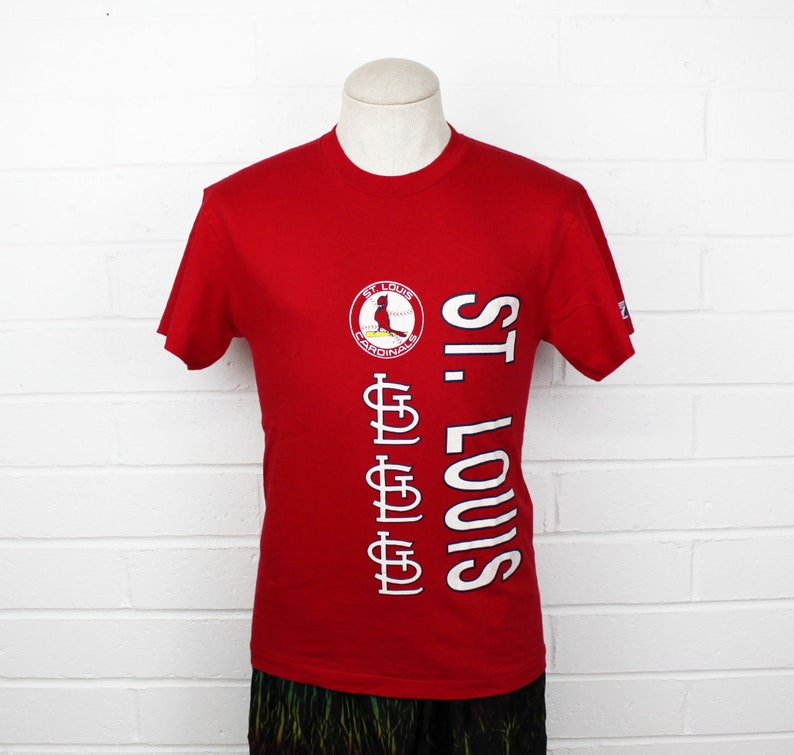 7b0d018fe Vintage 90s St Louis Cardinals Shirt Small Red Logo MLB