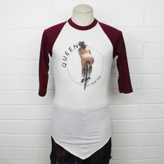 Vintage 70s Queen Concert Shirt Large Raglan 1978