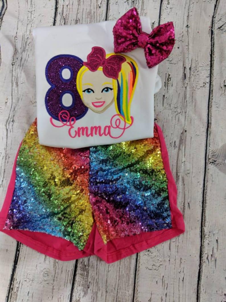f05a9247d8344 Jojo siwa girls birthday outfit, jojo siwa birthday shirt, jojo siwa  birthday tutu, Jojo siwa sparkle outfit, Jojo siwa birthday invitation