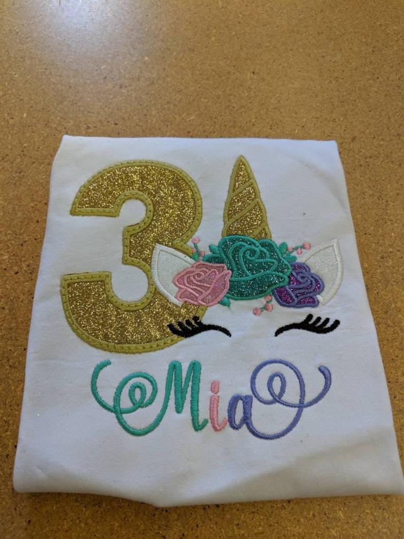 Flower Unicorn Shirt 5th Birthday Shirt for Girls Floral Unicorn Birthday Shirt Unicorn Unicorn Birthday Shirt Unicorn Shirt for Girls