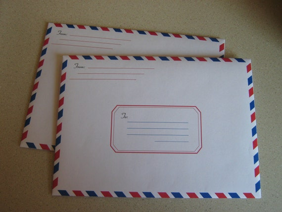 a7 size airmail envelope etsy