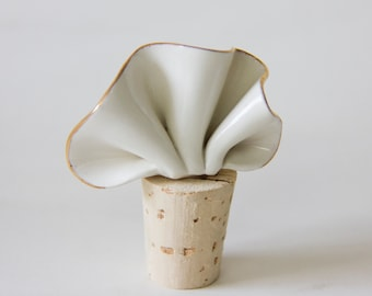 Ceramic bottle stopper