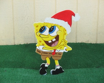 SpongeBob Squarepants Christmas Yard Sign
