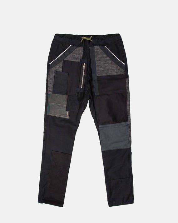 Black on ash black pant