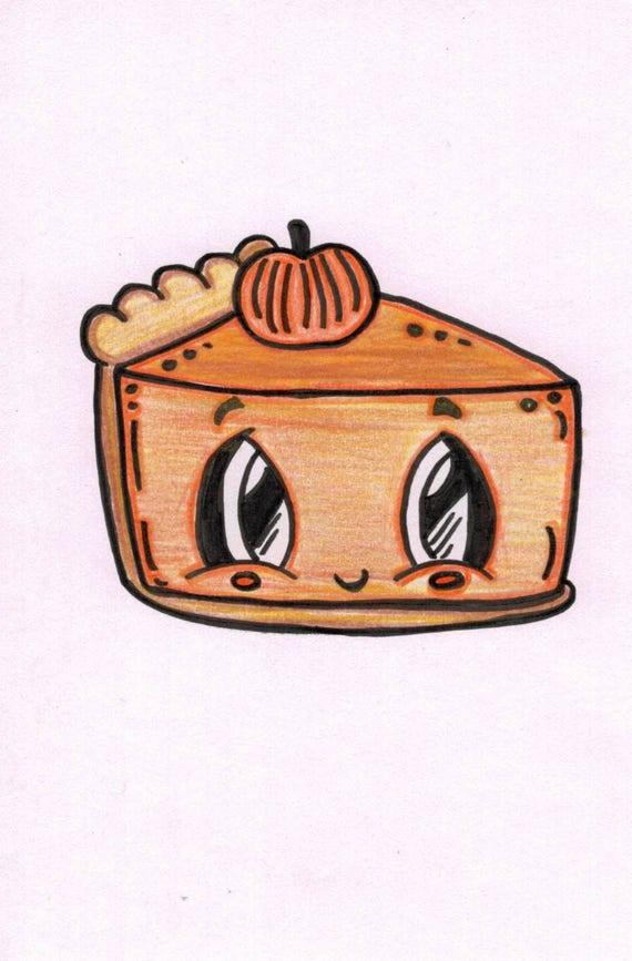 Pumpkin Pie Cartoon | Etsy