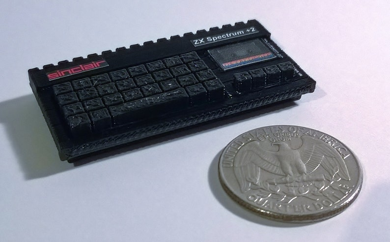 Mini Sinclair ZX Spectrum +2. 3d Printed, quirky gift idea.