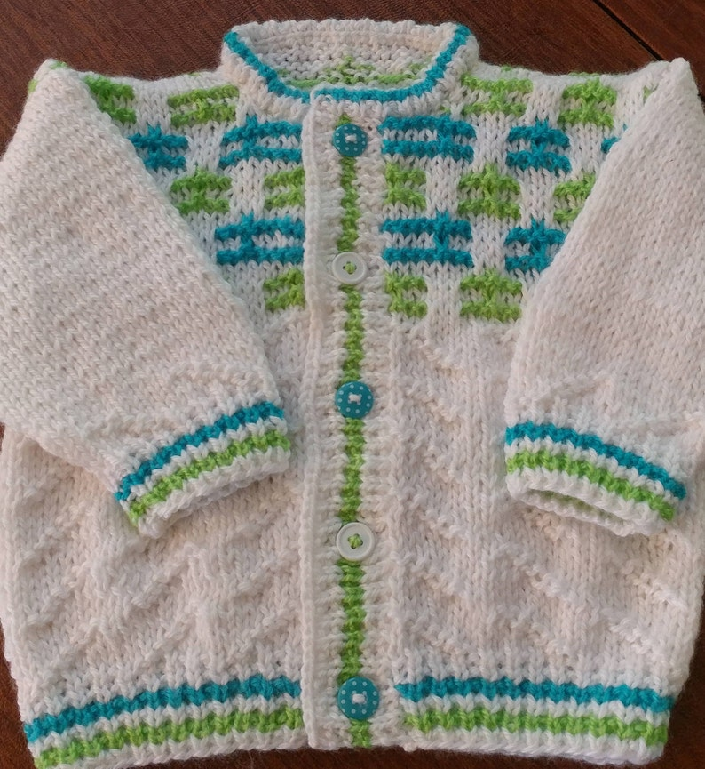 756e044bc Boys Baby Sweater Hand knitted 6 month size Easy Care
