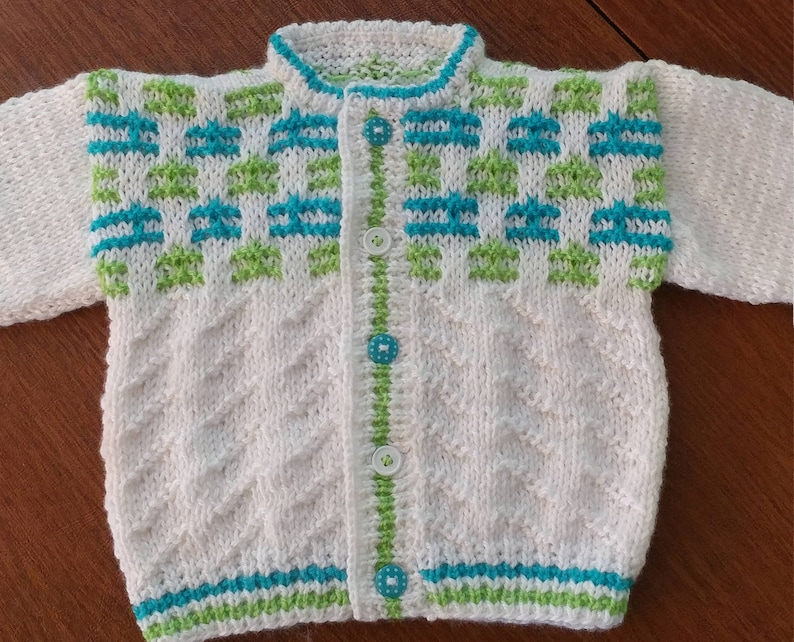 6d0e93aabb6d Boys Baby Sweater Hand knitted 6 month size Easy Care