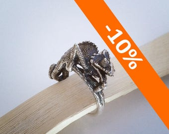 Chameleon ring II. - Sterling Silver - Free Shipping - 10% FALL DISCOUNT