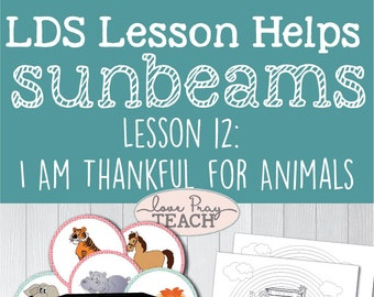 Lds Primary 1 Sunbeams Lesson 10 I Am Thankful For Etsy