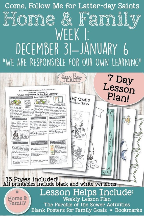 Come, Follow Me-For Individuals and Families: New Testament-Dec 31-Jan 6th