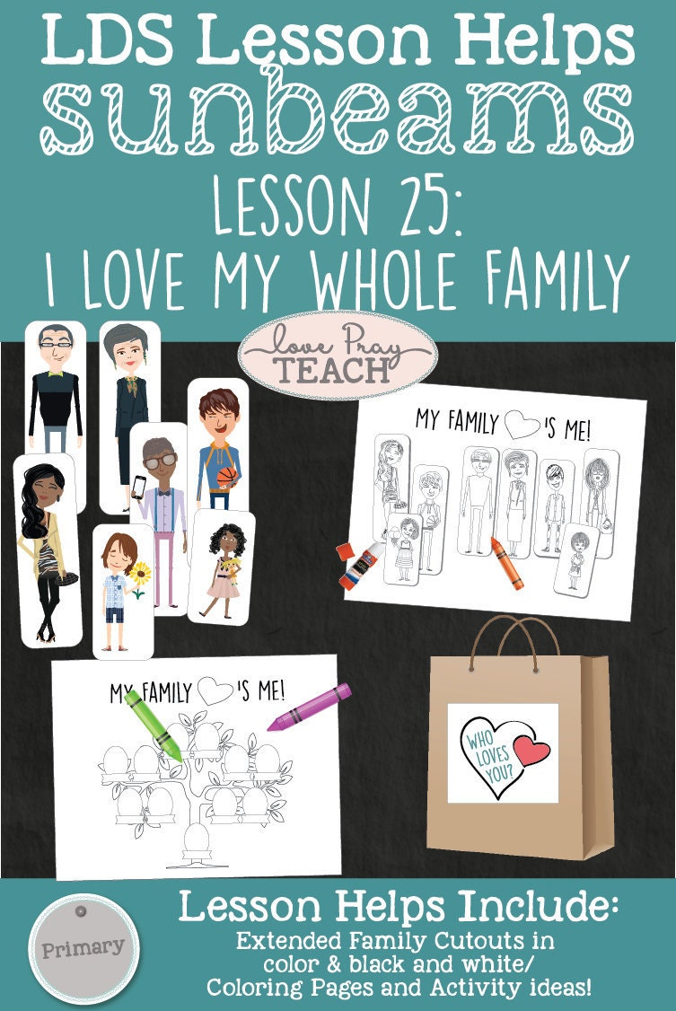 LDS Primary 1 Sunbeams Lesson 25: I Love My Whole | Etsy