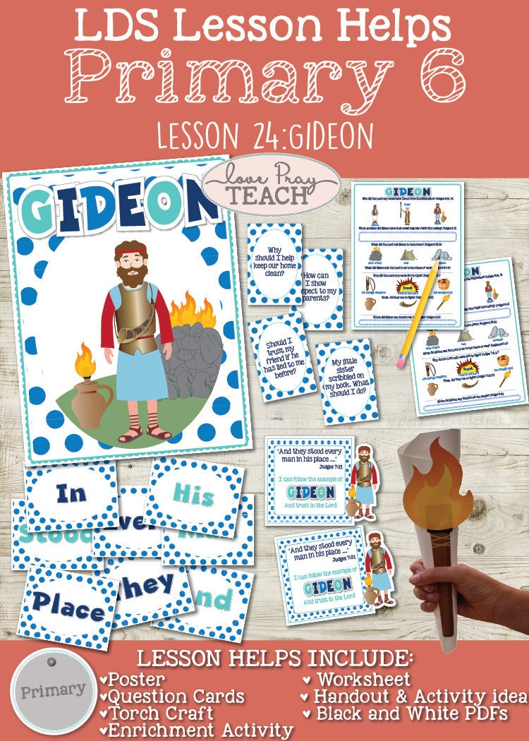 LDS Primary 6 Lesson 24: Gideon Lesson packet